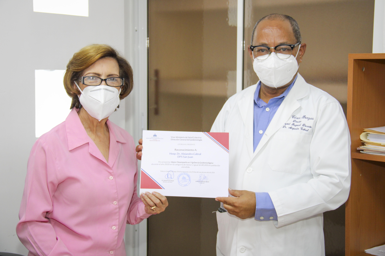 Reconocen al Hospital Alejandro Cabral por el Mejor Desempeño en la Vigilancia Epidemiológica